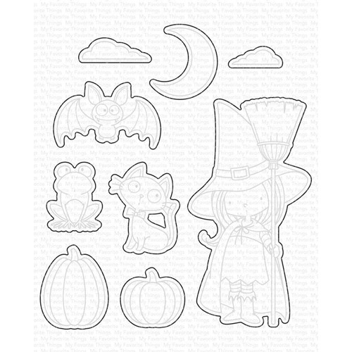 My Favorite Things WITCH WAY IS THE CANDY Dies Die-Namics mft1195 Preview Image