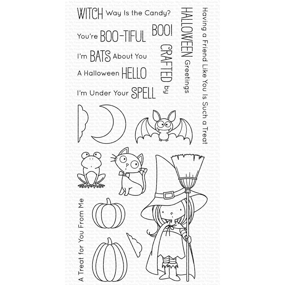 My Favorite Things WITCH WAY IS THE CANDY Clear Stamps bb146 zoom image