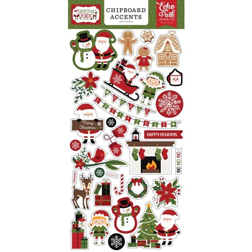 Echo Park CHRISTMAS MAGIC Chipboard Accents cm254021 Preview Image