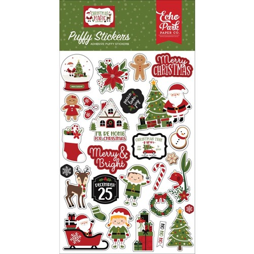 Echo Park CHRISTMAS MAGIC Puffy Stickers cm254066 Preview Image