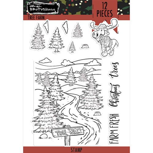 Brutus Monroe TREE FARM Clear Stamps bru6158 Preview Image