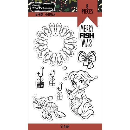 Brutus Monroe MERRY FISHMAS Clear Stamps bru6172 Preview Image