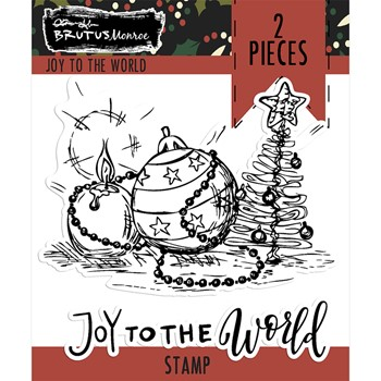 Brutus Monroe JOY TO THE WORLD Clear Stamps bru6196