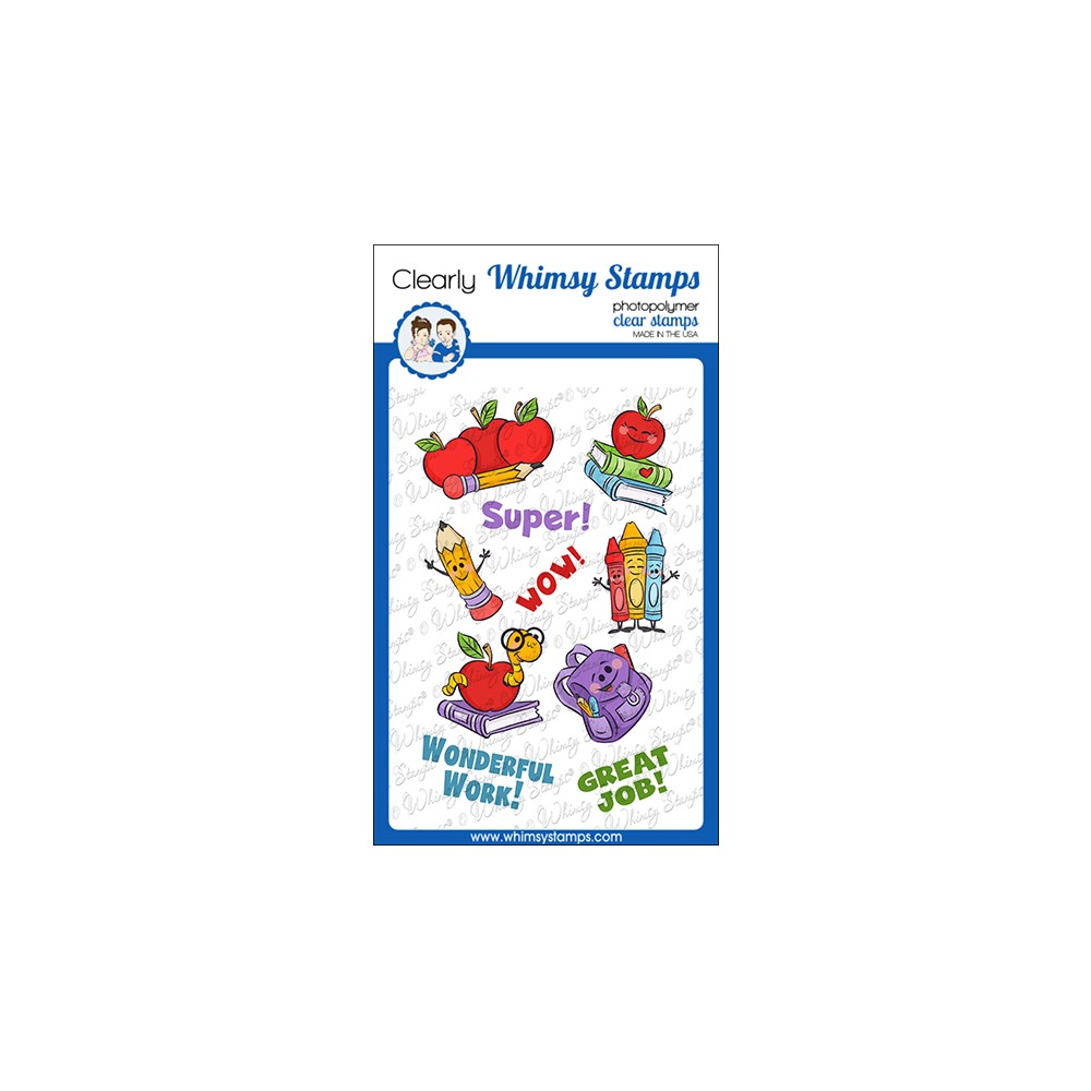 Whimsy Stamps BACK TO SCHOOL Clear Stamps KHB137a zoom image
