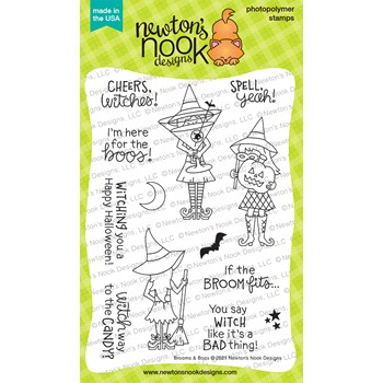 Newton's Nook Designs BROOMS AND BOOS Clear Stamps NN2108S05
