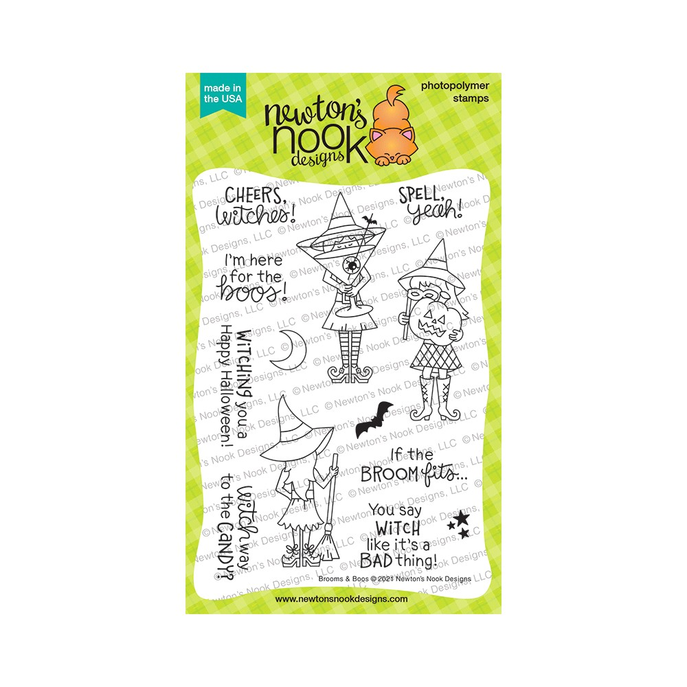 Newton's Nook Designs BROOMS AND BOOS Clear Stamps NN2108S05 zoom image