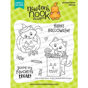 Newton's Nook Designs TRICK OR TREAT KITTENS Clear Stamps NN2108S03