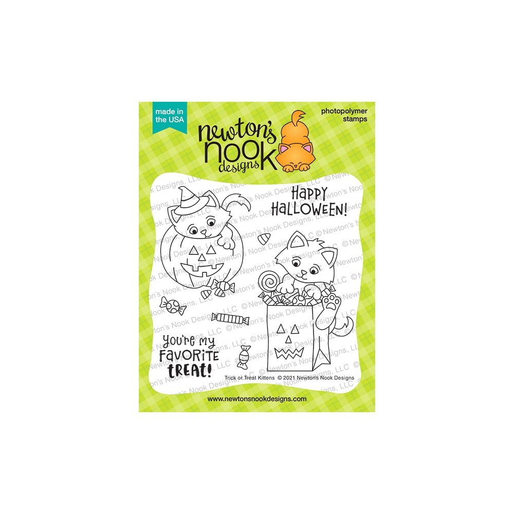 Newton's Nook Designs TRICK OR TREAT KITTENS Clear Stamps NN2108S03 zoom image