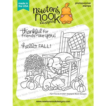Newton's Nook Designs FALL FRIENDS Clear Stamps NN2108S02