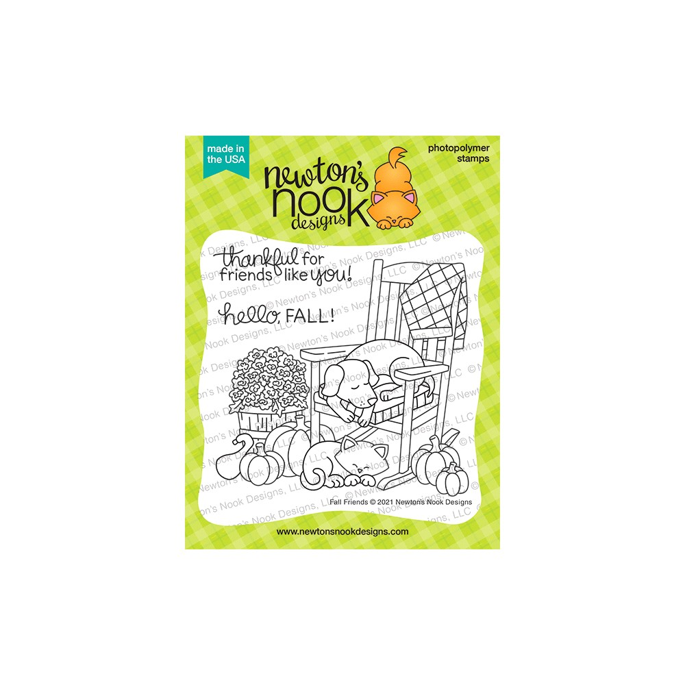 Newton's Nook Designs FALL FRIENDS Clear Stamps NN2108S02 zoom image