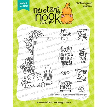 Newton's Nook Designs SIGNS OF FALL Clear Stamps NN2108S01