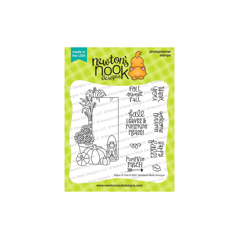 Newton's Nook Designs SIGNS OF FALL Clear Stamps NN2108S01 zoom image