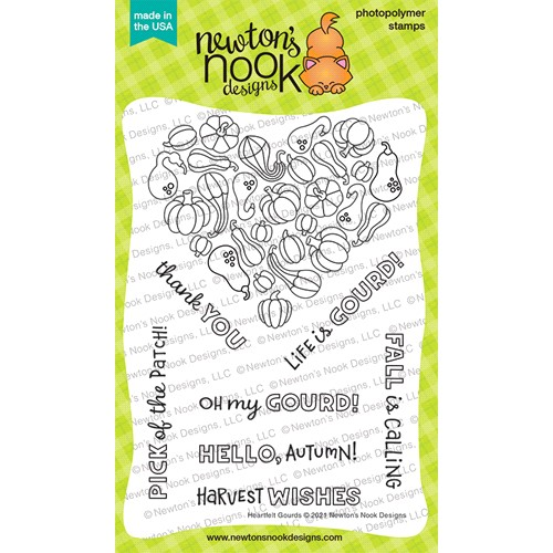 Newton's Nook Designs HEARTFELT GOURD Clear Stamps NN2108S07 Preview Image