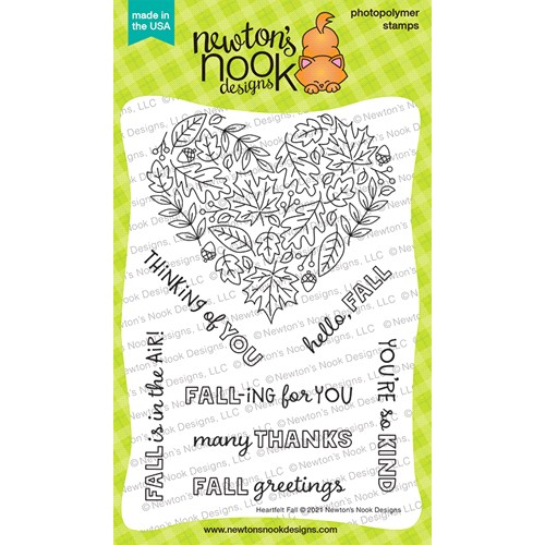 Newton's Nook Designs HEARTFELT FALL Clear Stamps NN2108S06 Preview Image