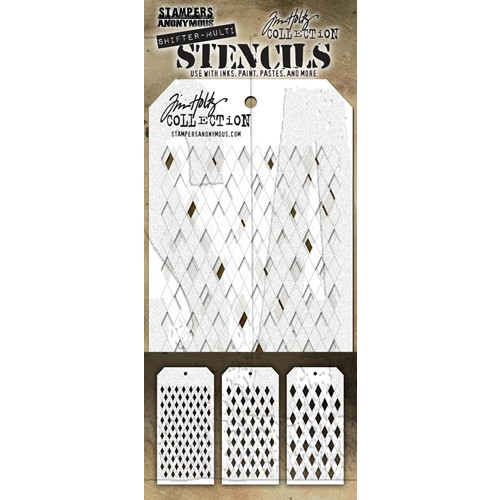 Tim Holtz STENCIL SHIFTER MULTI HARLEQUIN THSM02 Preview Image