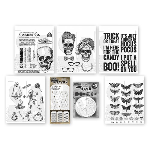 Tim Holtz I WANT IT ALL Stamps Stencils 2021 Halloween Edition* Preview Image