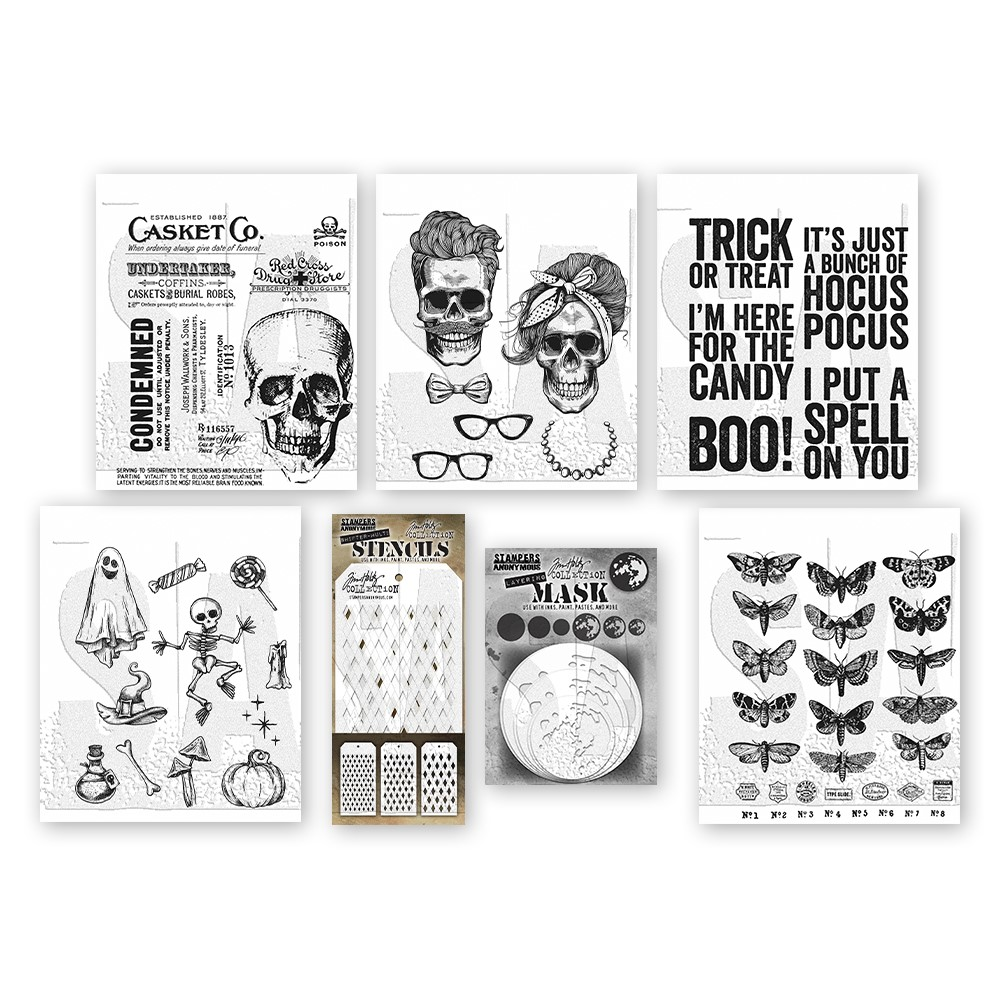 Tim Holtz I WANT IT ALL Stamps Stencils 2021 Halloween Edition* zoom image