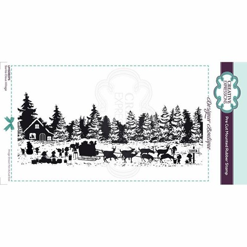 Creative Expressions SANTA CLAUS VILLAGE Cling Stamp umsdb075 Preview Image