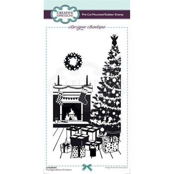Creative Expressions THE NIGHT BEFORE CHRISTMAS Cling Stamp umsdb076