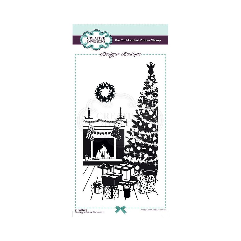 Creative Expressions THE NIGHT BEFORE CHRISTMAS Cling Stamp umsdb076 zoom image