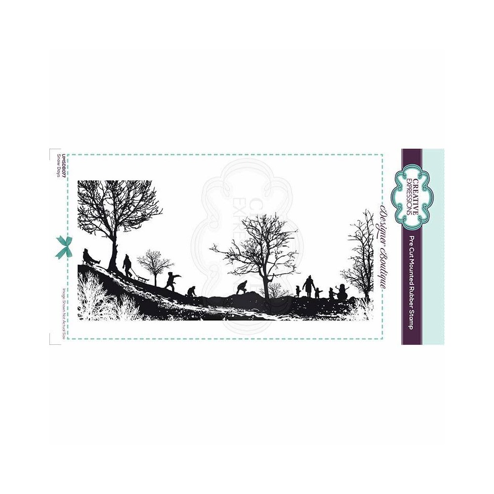 Creative Expressions SNOW DAYS Cling Stamp umsdb077 zoom image