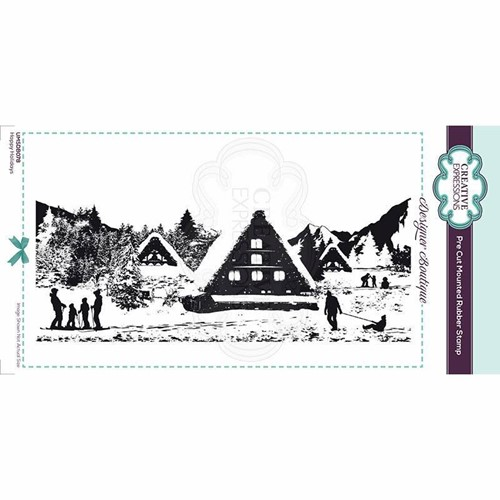 Creative Expressions HAPPY HOLIDAYS Cling Stamp umsdb078 Preview Image