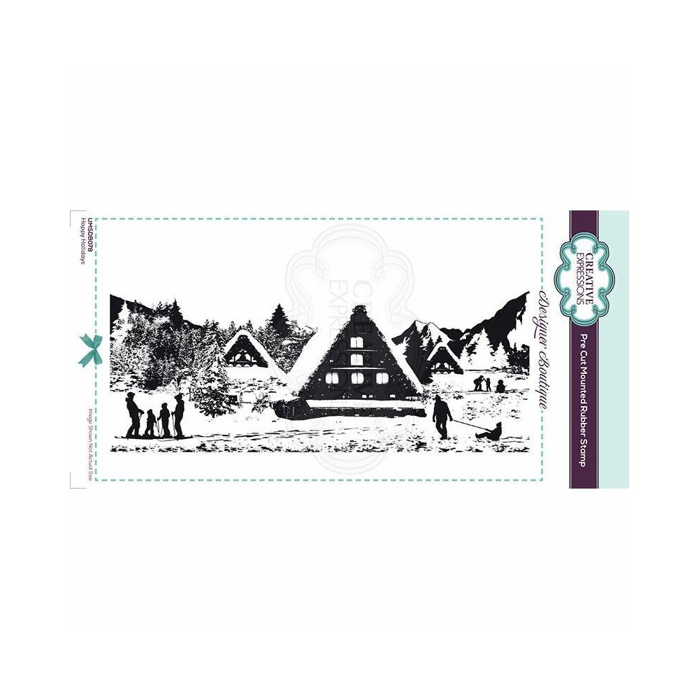 Creative Expressions HAPPY HOLIDAYS Cling Stamp umsdb078 zoom image