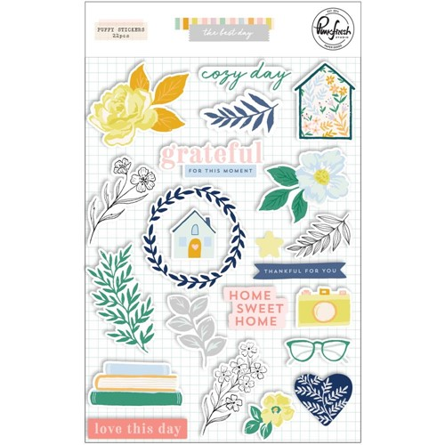 PinkFresh Studio THE BEST DAYS Puffy Stickers 125321 Preview Image