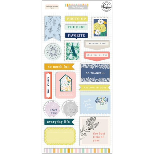 PinkFresh Studio THE BEST DAYS Cardstock Stickers 125521 Preview Image