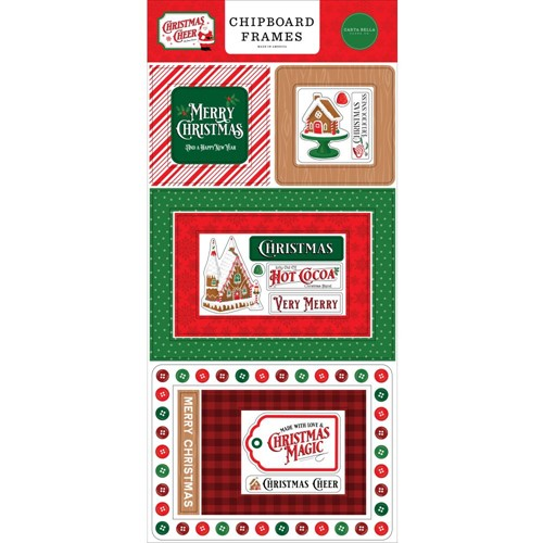 Carta Bella CHRISTMAS CHEER Chipboard Frames cbchr141065 Preview Image