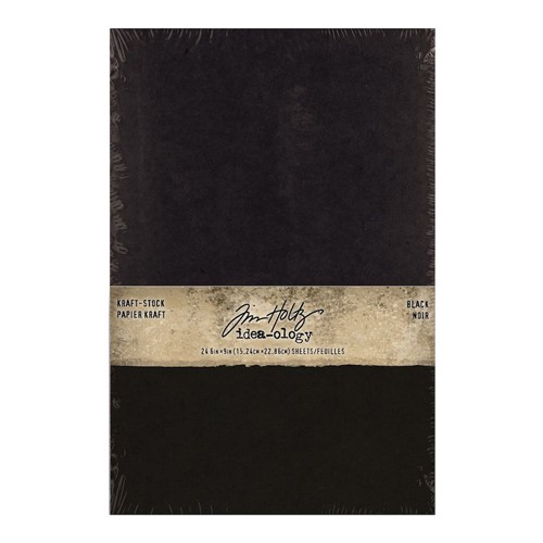 Tim Holtz Idea-ology KRAFT STOCK STACK BLACK Paper th94145 Preview Image