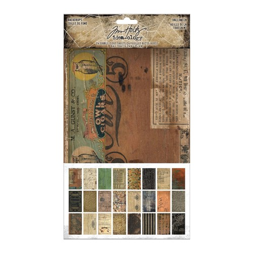 Tim Holtz Idea-ology HALLOWEEN Backdrops th94146 Preview Image