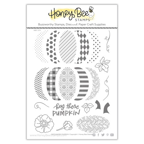 Honey Bee PATCHWORK PUMPKIN Clear Stamp Set hbst373 Preview Image