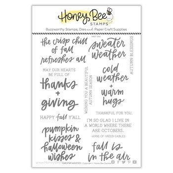 Honey Bee SWEATER WEATHER Clear Stamp Set hbst366