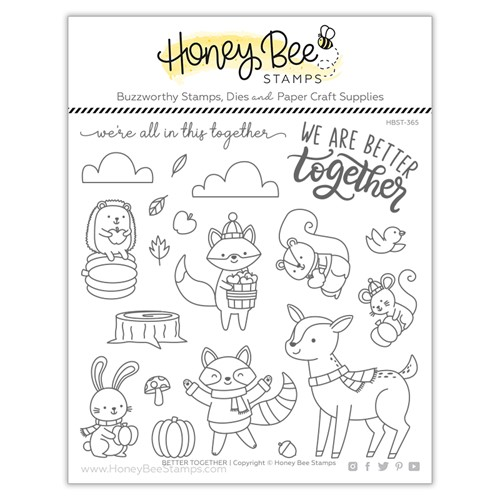 Honey Bee BETTER TOGETHER Clear Stamp Set hbst365 Preview Image