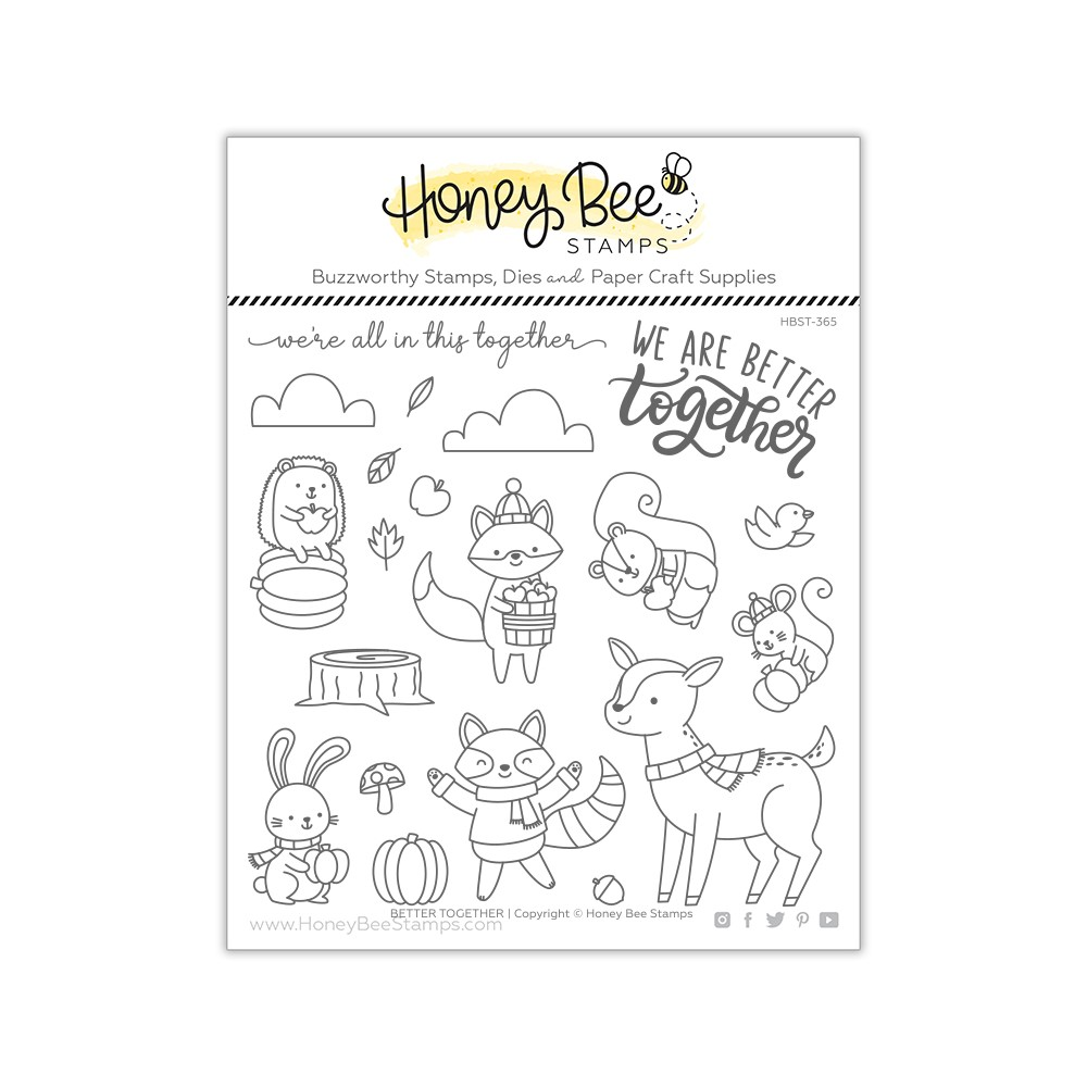 Honey Bee BETTER TOGETHER Clear Stamp Set hbst365 zoom image
