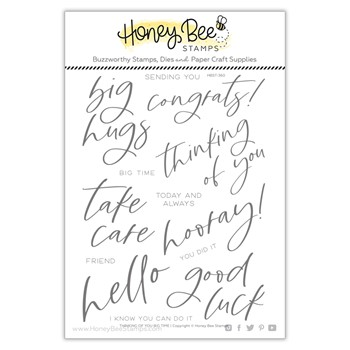 Honey Bee THINKING OF YOU BIG TIME Clear Stamp Set hbst360