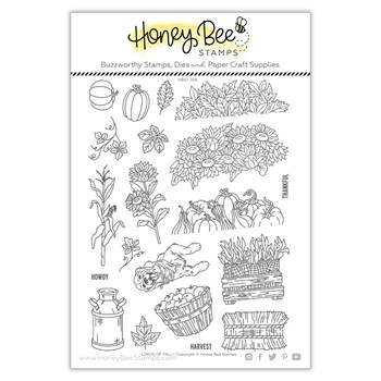 Honey Bee LOADS OF FALL Clear Stamp Set hbst358