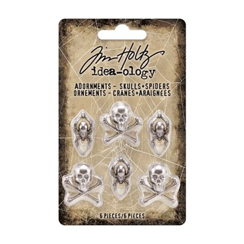 RESERVE Tim Holtz Idea-ology SKULLS AND SPIDERS Adornments th94161