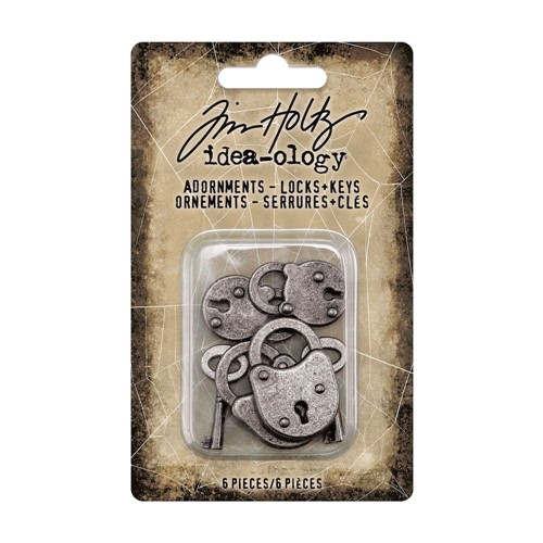 Tim Holtz Idea-ology LOCKS AND KEYS Adornments th94162 Preview Image