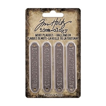 RESERVE Tim Holtz Idea-ology HALLOWEEN Word Plaques th94164