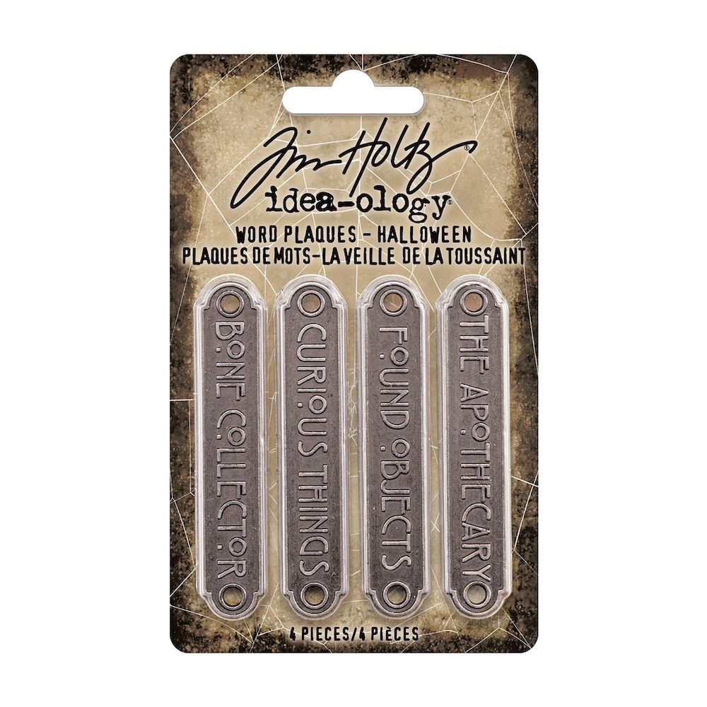 Tim Holtz Idea-ology HALLOWEEN Word Plaques th94164 zoom image