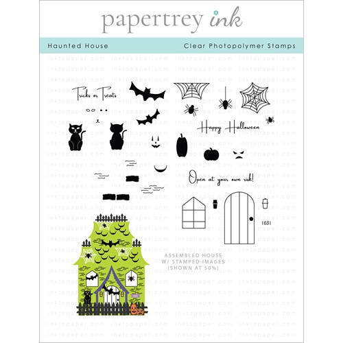 Papertrey Ink HAUNTED HOUSE Clear Stamps 1323 Preview Image