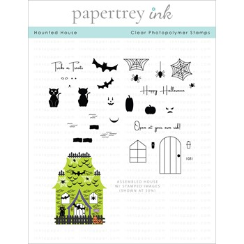 Papertrey Ink HAUNTED HOUSE Clear Stamps 1323