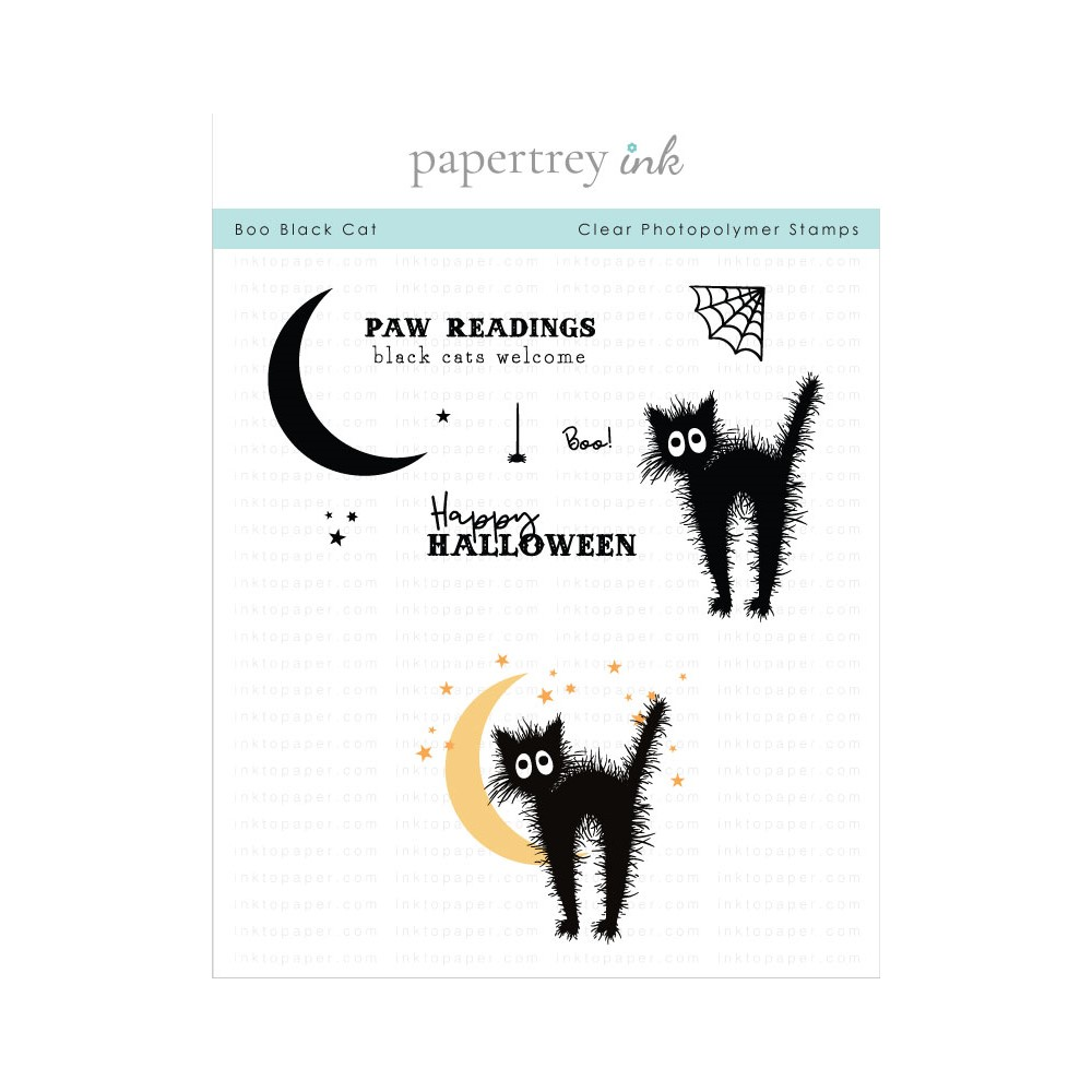 Papertrey Ink BOO BLACK CAT Clear Stamps 1322 zoom image