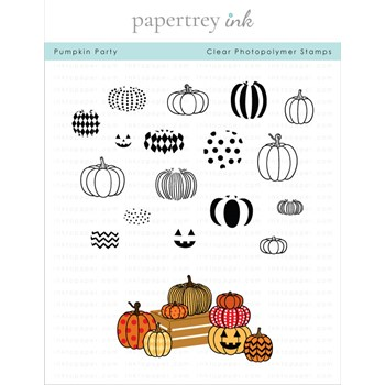 Papertrey Ink PUMPKIN PARTY Clear Stamps 1321