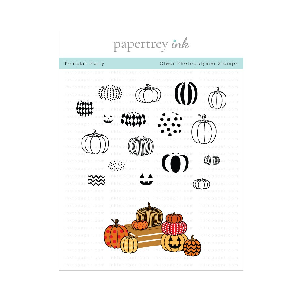 Papertrey Ink PUMPKIN PARTY Clear Stamps 1321 zoom image