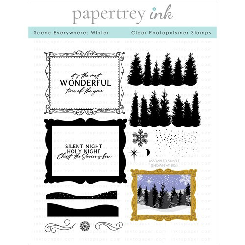 Papertrey Ink SCENE EVERYWHERE WINTER Clear Stamps 1319 Preview Image
