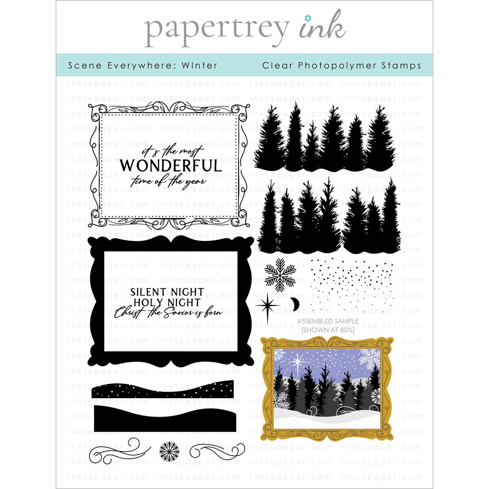 Papertrey Ink SCENE EVERYWHERE WINTER Clear Stamps 1319 zoom image