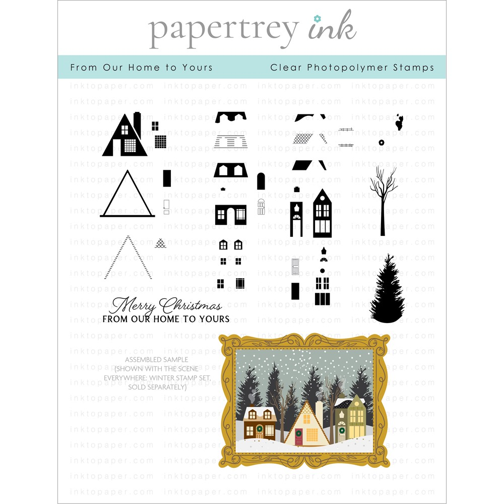 Papertrey Ink FROM OUR HOME TO YOURS Clear Stamps 1318 zoom image